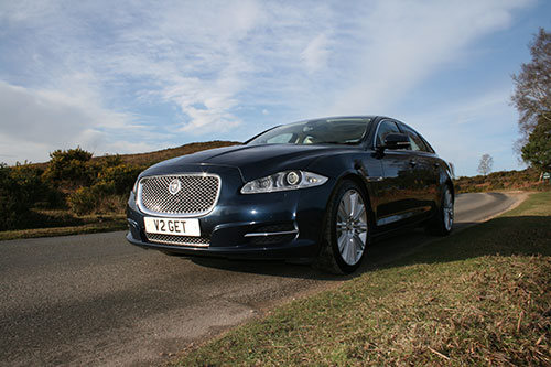 Chauffeur-driven Jaguar