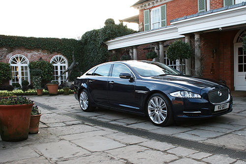 Wedding car from Gilt Edged Travel at Chewton Glen Hotel